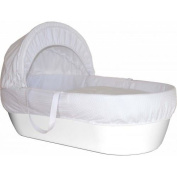 Shnuggle Basket Pure White With White Waffle Cosy Quilt