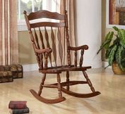 Wildon Home® Grande Ronde Solid Wood Rocking Chair with Walnut Finish