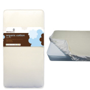 Naturepedic Organic Cotton Classic Crib Mattress w Waterproof Fitted Crib Pad