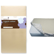 Naturepedic Organic Cotton Ultra Lightweight Crib Mattress w Waterproof Fitted Crib Pad