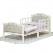 The Orbelle Grey Padded Contemporary Toddler Bed