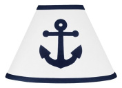 Anchors Away Nautical Navy and White Baby, Childrens Lamp Shade