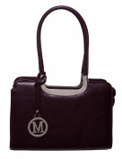 M Inspired Classical Two Handle Structured Satchel women handbag Shoulder Handbag by Handbags For All