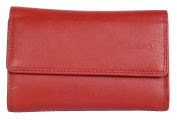 Women's Bright Red Great Quality Genuine Leather Wallet Picasso