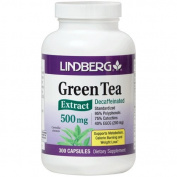 Lindberg Green Tea Extract Decaffeinated 500 Mg - Standardised to 95% Polyphenols, 75% Catechins and 45% EGCG (225 Mg)