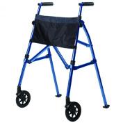 Standers Ez Fold N' Go Walker-Height Adjustable Lightweight Travel Walker, Cobalt Blue, 3.4kg