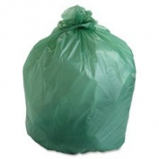"Compostable Trash Bags, 242.3l.85mil,120cm ""x 60"""",30/BX,Green, Sold as 1 Box, 30 Each per Box"