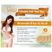 Suddenly Smooth Calendula Gold Hard Wax Microwaveable Disc Kit