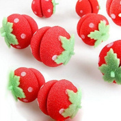 Cute Soft Round Sponge Strawberry Hair Curlers / Roller For Lady, 12pcs by Viskey