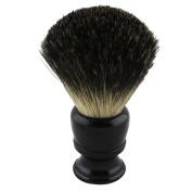 Black Resin Handle Black Badger Hair Shaving Brush 26mm Knot