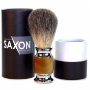 FATHER'S DAY SALE! Wet Shaving Brush - Made With Real Badger Hair for Best Quality - Durable Handle, Brown - Smooth Bristles That Shavers Love. d