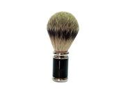GOLDDACHS Shaving Brush, 100% Badger hair, Metal, silver, black