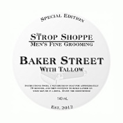 Shave Soap with Tallow - Baker Street. 140ml shave soap by The Strop Shoppe