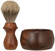 Whidbey Island Natural Shaving Set - Bocote Bowl & Badger Bristle Brush