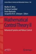 Mathematical Control Theory II