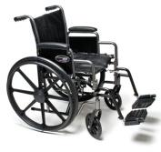 Everest & Jennings Traveller SE Wheelchair 18 X 16 Detachable Full Arm, Swing Away Footrest
