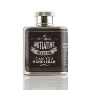Initiative Beard Oil Flask | Natural, Citrus Scent