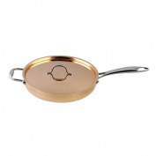 Le Chef 5-ply Copper Saute Pan with Copper Lid 3 ¾-qt.