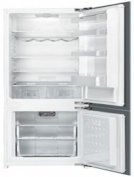 Smeg CB300U 60cm 0.2cbm Capacity Bottom Freezer Refrigerator with Automatic Freezer Glass Shelves Reversible Door Hinge
