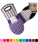 Purple Gingham & Stripe Neoprene Oven Mitt