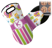 Butterflies & Stripes Neoprene Oven Mitt