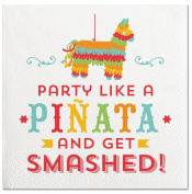 Slant Cocktail Napkins 20 Count - Party Like A Pinata And Get Smashed