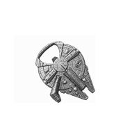 Star Wars Millenium Falcon Metal Bottle Opener Zinc Alloy - Non-magnetic Opener 6.1cm Version