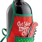 Christmas Wine Gift Set Christmas Corkscrew with Wine Bottle Apron