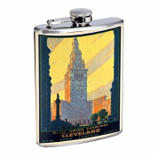 Perfection In Style Stainless Steel Flask Vintage Travel Posters Design 010 240ml