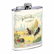 Perfection In Style Stainless Steel Flask Vintage Insects Design 011 240ml