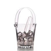 Pasabahce Karat Glass Ice Bucket with Tongs