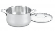 Cuisinart 444-24 Contour Stainless 5.7l Saucepot with Glass Cover