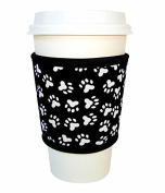 Joe Jacket Drink Insulator, Coffee Sleeve, Cup Grip, Paw Print