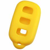 KeyGuardz Yellow Rubber Keyless Entry Remote Key Fob Skin Cover Protector