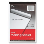 12 PACK OF Mead Plain Writing Tablet, 15cm x 23cm , 100 Sheets