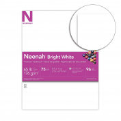 Neenah Bright White Premium Cardstock, 96 Brightness, 29kg., 22cm x 28cm , 75-Sheets