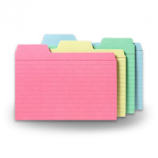 Find-It Tabbed Index Cards, 10cm x 15cm , Assorted Colours, 48-Pack