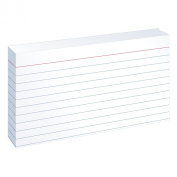 Oxford Ruled Index Cards, 7.6cm x 13cm , White, 10 Packs of 100