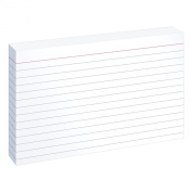 Oxford Ruled Index Cards, 10cm x 15cm , White, 10 Packs of 100