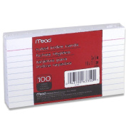 12 Pack of Mead 7.6cm x 13cm Index Cards, Ruled, 100 Count, White (63350) = to 1200cards
