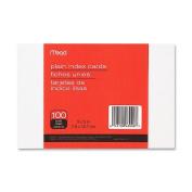 Mead Plain Index Cards, 7.6cm X 13cm , 100 count