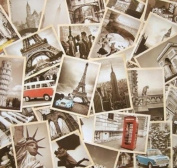 Outop 32 PCS 1 Set Vintage Retro Old Travel Postcards for Worth Collecting