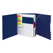 Ampad Versa Crossover Notebook, Letter Size, Wide-Ruled, Navy, 60 Sheets