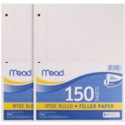 12 Pack of Mead Filler Paper, 150-Count, Wide Rule (15103) = to 1800 sheets