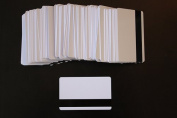 100 Blank HiCo Gloss Mag Strip Inkjet PVC ID Cards, Double Sided Printing
