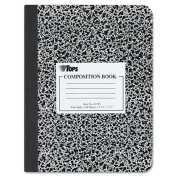 TOPS Marble Composition Book, 19cm x 25cm , Wide Rule, Paperback, 100 Sheets, White