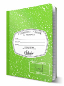 iScholar Grade 1 Primary Composition Book, 19cm x 25cm , 80 Sheets, Skip Line Ruling, Green Marble