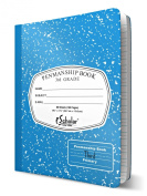 iScholar Grade 3 Primary Composition Book, 19cm x 25cm , 80 Sheets, Skip Line Ruling, Blue Marble