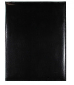 Markings by C.R. Gibson Black Bonded Leather Padfolio
