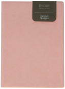 Daycraft PU Soft LEATHER Signature Notebook - A6, Pink, LINED, Ribbon Bookmark - 17cm x 8.9cm